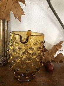 Belle petite carafe/pichet  ambré vintage