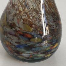 Vase soliflore en pâte de verre multicolore vintage 1960 - 3