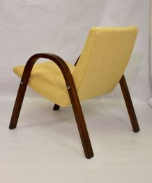 Fauteuil Bow Wood Steiner vintage 1950