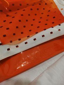 Sac PVC style 60 marque LANCASTER + Pochette.