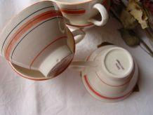 5 tasses ou bolées vintage