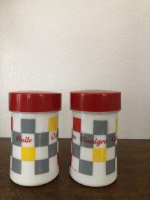 Set huile/vinaigre/sel/poivre/moutardier vintage