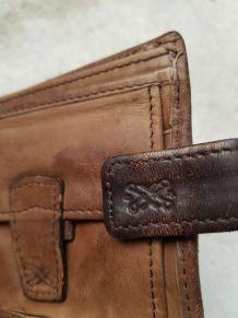 Lot de 2 portefeuilles cuir homme vintage