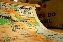 Carte scolaire Vidal Lablache - Afrique physique