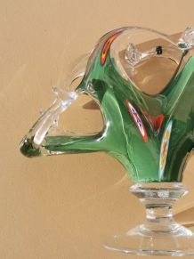 Porte serviette en verre soufflé Murano