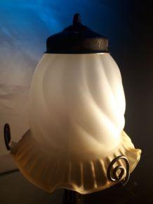 lampe fer forgée   1930   electricité refait au norme   14x3