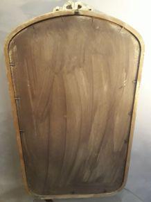 miroir  classic elégant  et epuré patiné  or  1970 en bonne