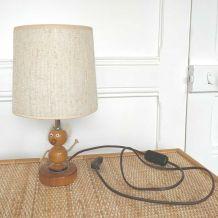 Lampe viking bois et corde