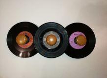 Porte-manteau vintage façon disque vinyle 45 tours Diy & Art