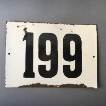 """ANCIENNE GRANDE PLAQUE DE RUE SOVIETIQUE NUMERO """"199"""""""