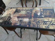 Table bistro avec 3 chaises