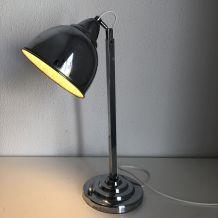 Lampe atelier chromée vintage 1930 - 41 cm