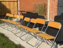 8 chaises pliantes