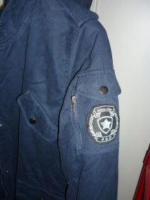 blouson capuche marque Version Sud taille L 100% coton