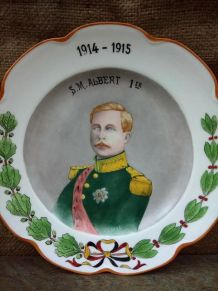 Assiette décorative Haviland - SM Albert Ier