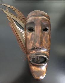 Masque Africain Kenyan bois sculpté