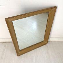 Miroir en bois à bordure doré