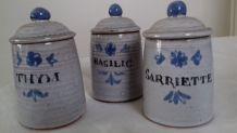 1 lot de 6 petits pots aromatiques en céramique