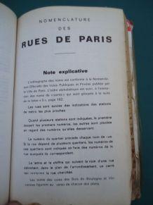 Plans de Paris, Rues,métro, périf,bois, 200pages