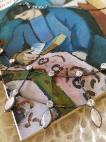Collier vintage metal/strass