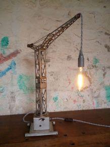 Lampe grue tole - JOUSTRA