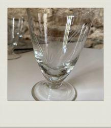 Petits verres à pieds vintage (lot de 5)
