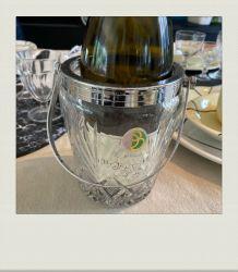 Seau à glaçons en verre ciselé