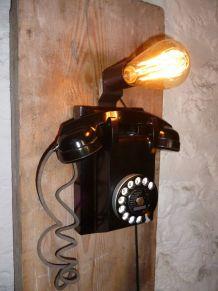 LAMPE APPLIQUE - TELEPHONE MURAL