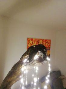 """Grand lampadaire en bois flotté """"saule pleureur"""""""
