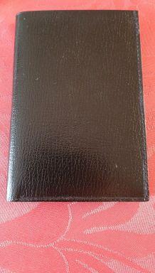 Porte feuille cuir noir