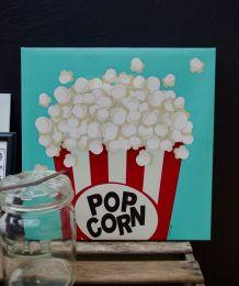 Toile tendue Pop Corn made USA