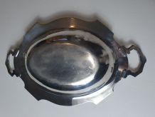 Légumier - plat  métal argenté