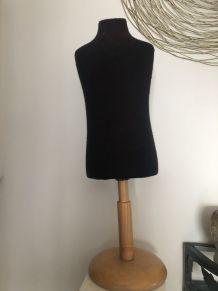 Mannequin enfant vintage tissu noir