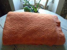 Plaid laine crochetée dentelle