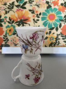 4tasses porcelaines vintage