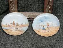 Anciennes assiettes en porcelaine de Limoges