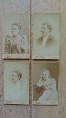 Photos anciennes portraits carte de visiste