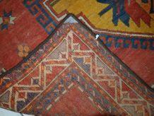 Tapis ancien Caucasien Kazak fait main, 1C710