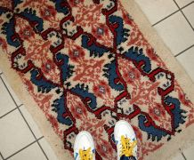 Tapis vintage Marocain Berber fait main, 1C713
