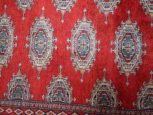 Tapis vintage Ouzbek Bukhara fait main, 1C721