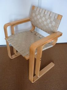 rare vintage fauteuil design Magnus Olesen danemark année 60