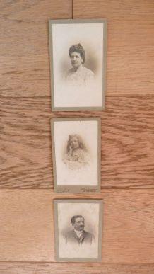 Photos anciennes portraits carte de visite