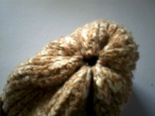 Bonnet en laine fait main vintage