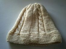 Bonnet en laine tricoté enfant mixte age 5 & 9 ans