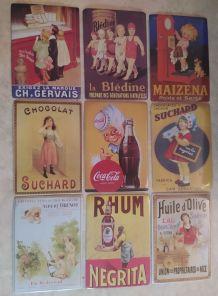 Lot plaques publicitaires métal