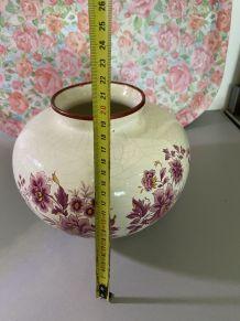 Vase boule fleuri