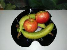 Panière à fruits façon disque vinyle 33 tours