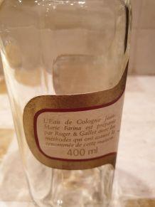 Flacon eau de cologne  400 ml JMF Roger et Gallet