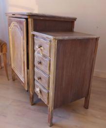 Meuble a tiroirs de couture ancien