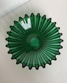 Coupe de fruit en cristal Murano fait main